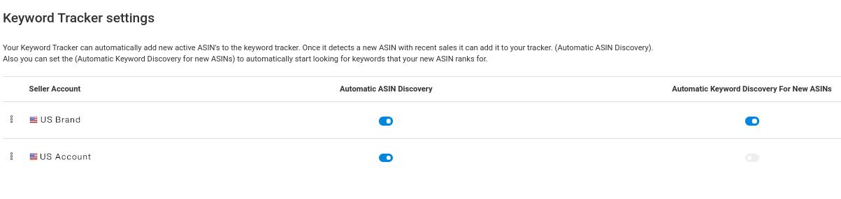 keyword tracker- settings 2